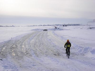Наращиваемая ледовая переправа через Чепцу