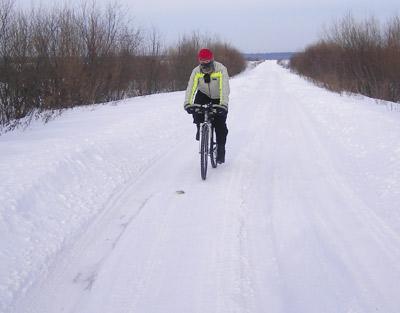 Дорога от парома до трассы