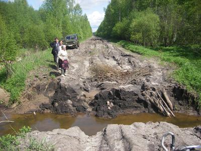 """Размыта дорога """"2-й поселок - Каринский перевоз"""""""
