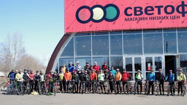 Общее фото вело пробега 2018 (Семушино)