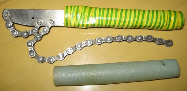 Универсальный ключ из цепи и профиля своими руками 22